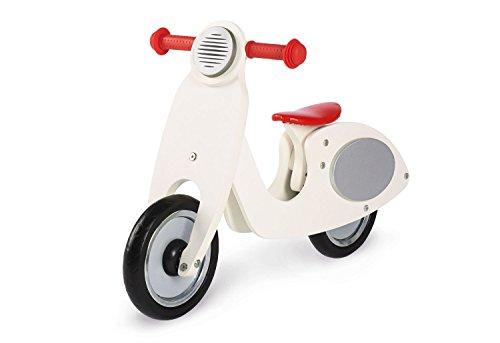 Pinolino Laufrad Vespa Wanda, Laufrad Holz, unplattbare Bereifung, Sattel 3-fach höhenverstellbar, für Kinder von 3 – 5 Jahren, cremeweiß