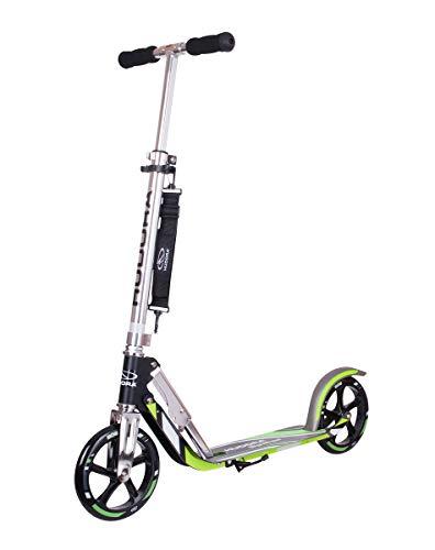 HUDORA 6956016014695 14695 BigWheel 205-Das Original mit RX Pro Technologie-Tret-Roller klappbar-City-Scooter, schwarz/grün