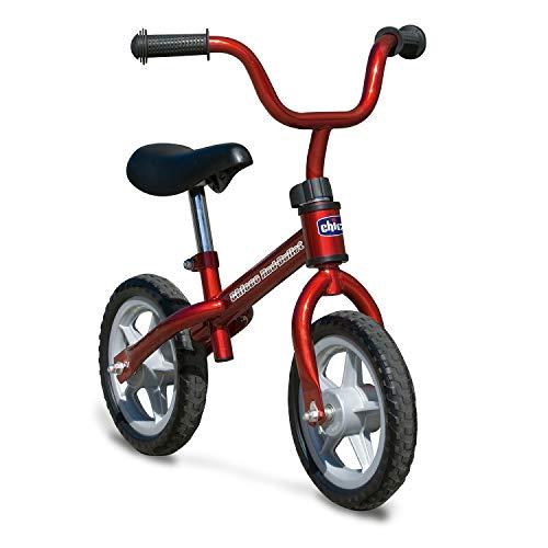 Chicco Red Bullet Laufrad für Kinder 2-5 Jahre, Kinder Laufrad fürs Gleichgewicht, mit höhenverstellbarem Sattel und Lenker, max. 25 kg, Rot - Spielzeug für Kinder 2-5 Jahre