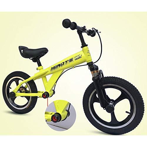YSCYLY Kinderlaufrad,14 Zoll / 16 Zoll Erwachsenen-Trainingswagen,FüR Ersten Geburtstag Neu Jahr