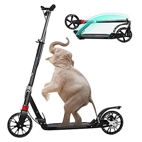Roller Erwachsene Tretroller Klappbar Erwachsener Roller Mit Handbremse Kickroller Für Erwachsene Und Kinder, Bis 150kg Belastbar, ABEC-7 Lager- Und Doppelfederung