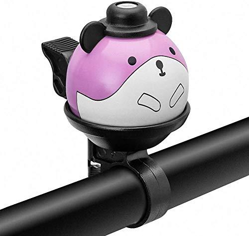 Feluz Kinder-Fahrradglocke, um 360 ° drehbare Cartoon-Fahrradglocke für Mädchen, Jungen und Erwachsene, lautes, klares, klares Sound-Lenkerringhorn für Kinder, Fahrradzubehör für Kinder