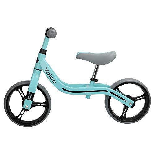 YOLEO Laufrad ab 2 Jahre bis zu 30 kg Lenkrad und Sattel höhenverstellbar Lauflernrad Kinderrad für Jungen und Mädchen Kinder 2, 3, 4, 5 Jahre