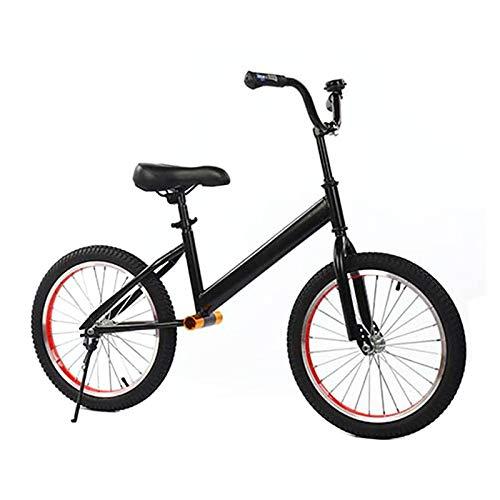 Laufräder Lauflernrad Großes Laufrad mit 18 Zoll Luftreifen, Kein Pedal Fahrrad Fahrräder für Große Kinder/Jungen Mädchen/Erwachsene, Fußstützen-Design, Schwarz