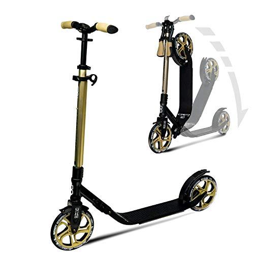 Infinity Scooters Big Wheel City Roller Klappbar & Höhenverstellbar Tretroller für Erwachsene und Kinder ab 8 Jahren bis 100Kg mit Kugellager ABEC 7 und 215mm PU-Räder