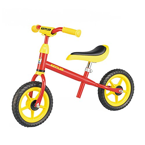 Kettler Laufrad Speedy – das verstellbare Lauflernrad – Kinderlaufrad mit Reifengröße: 10 Zoll – stabiles & sicheres Laufrad ab 2 Jahren – rot & gelb