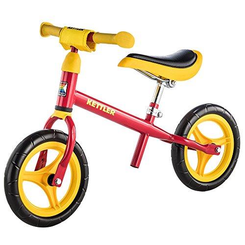 Kettler Laufrad Speedy 2.0 das verstellbare Lauflernrad Kinderlaufrad mit Reifengre: 10 Zoll stabiles & sicheres Laufrad ab 2 Jahren rot & gelb